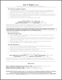Business Banker Resume Template Personal Sample Investment Banking Examples