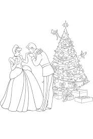 Cinderella Dancing With Prince Charming Coloring Pages