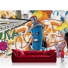 vlies fototapete no 340 graffiti tapete kindertapete graffiti dose sprayer bunt bunt