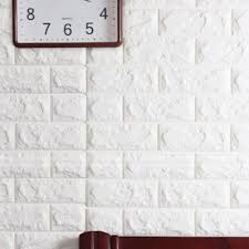 10 Pack White Brick Wallpaper Tiles POPPAP Self Adhesive 3D Foam Wall Panels For Home Decor TV Walls Kitchen Bedroom Living Room Background