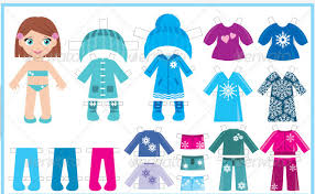 Paper Doll Clothes Clipart 1