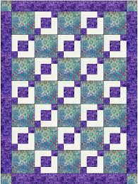 Stepping Stones Easy 3 Yard Downloadable Quilt Pattern With this