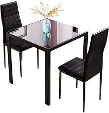 j esstisch und stühle glas quadratisch kleiner küchentisch mit hoher rückenlehne schwarz 3