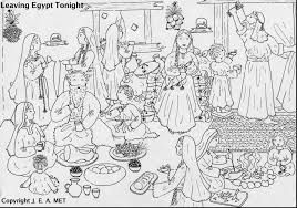 Fantastic Exodus Coloring Pages For Kids With Passover And Seder Plate