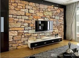 großhandel murales de pared 3d naturaleza tapete mauer für wohnzimmer resturant zimmer büro rückseite wand dekor steinmauer papier fumei150716