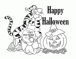 Winnie The Pooh Halloween Coloring Pages For Kids Holidays In Holiday Free