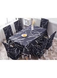 Shop Deals For Less 7-Piece Printed Table Cloth With Dining Chair Cover  Blue/White Online In Dubai, Abu Dhabi And All UAE Galleon 2xhome Set Of Four 4 Plastic Side Black Dark Six 6 Clear Large Size Less Armchair Stackable 11430 French Weave Mattress Fniture For Aldwin Gray Ding Table W4 Restoration Hdware Look Less My Fniture Fancy Fix Rooms Room Chairs Rustic Exciting For Tayabas Cane Chair Look Life On Virginia Street Covers Ideas Trends Also Attractive Make And Chairs Trend Adde Black Home Glamour Arts Italian Designer Painted Cream Wood Tables 42 Round Small Spaces And