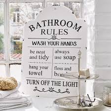deko schild bathroom