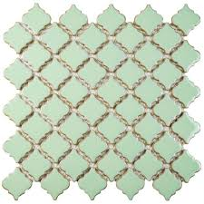 Home Depot Merola Penny Tile by Merola Tile Hudson Tangier Light Green 12 3 8 In X 12 1 2 In X 5