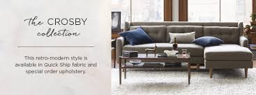 West Elm Crosby Sofa Sectional by Crosby Collection West Elm