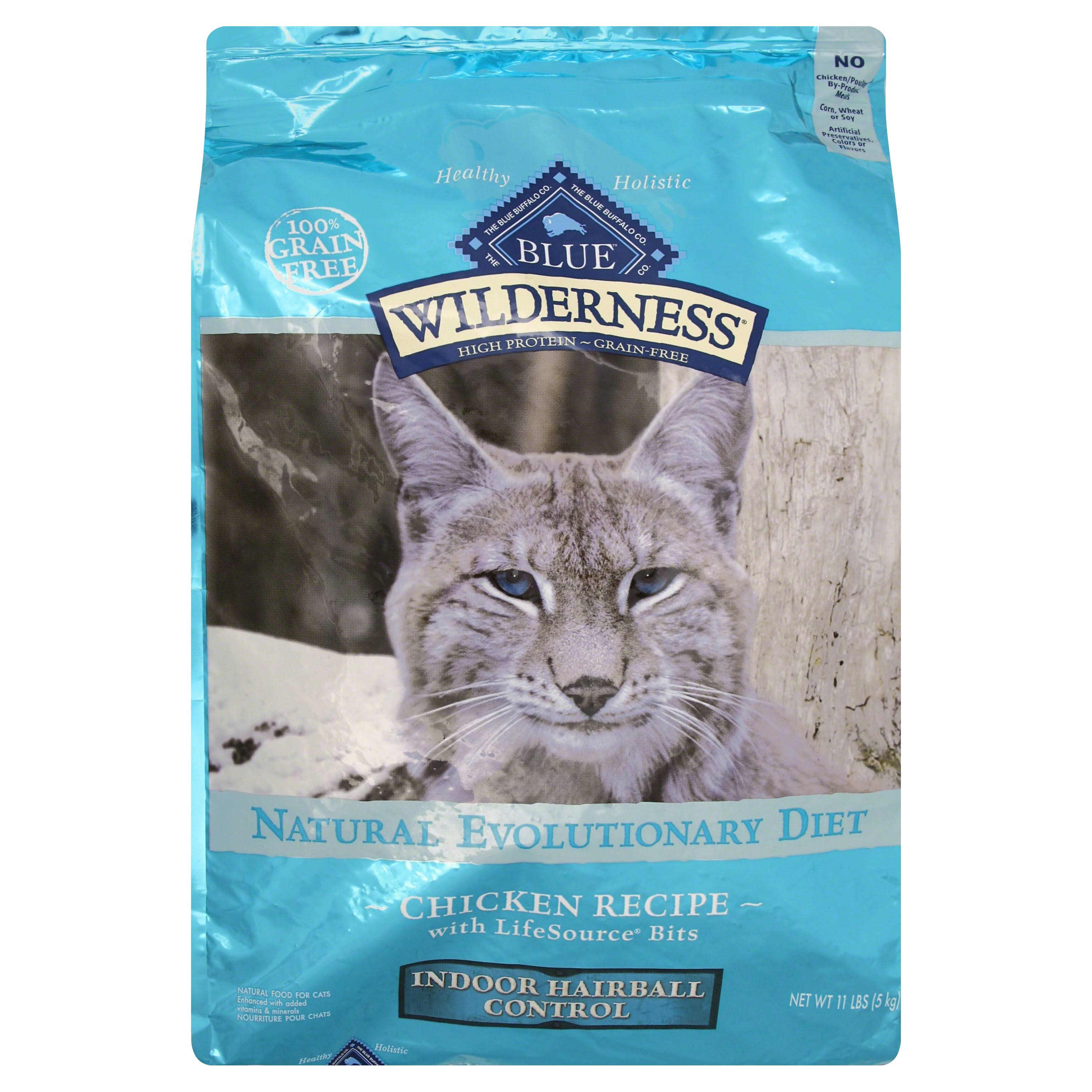 Blue Buffalo Wilderness Adult Indoor Control Hairball Grain Free Dry Cat Food - Chicken, 11lbs