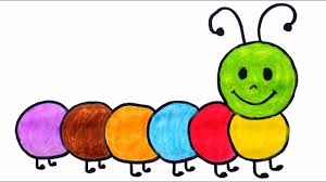 How To Draw And Color Caterpillar For Kids