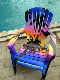 Custom Painted Margaritaville Adirondack Chairs by Awesome Palm Trees U0026 Sunset Painted Chair ἆll Hings