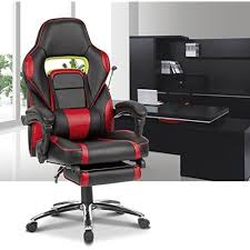Reclining Gaming Chair With Footrest by Reclining Gaming Office Chair With Padded Footrest Racing Style