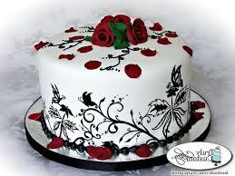 Black And White Happy Birthday Cake