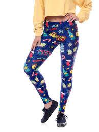 Christmas Snowflake Elk Skinny Pajama Pants For Women Item Code