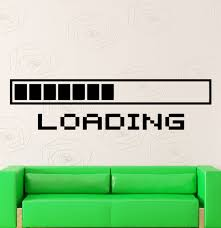Wall Mural Decals Amazon by Amazon Com Wall Stickers Vinyl Decal Funny Computers Loading Pc