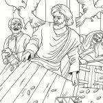 Jesus Cleansing The Temple Coloring Page With Regard To At