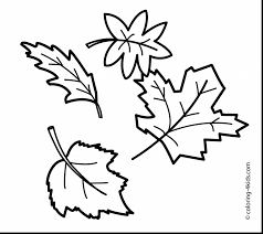 Superb Fall Leaves Printable Coloring Pages With Color And