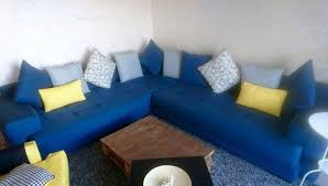 canape d angle bleu canapé d angle bleu et pouf carré gratuit casablanca salon maroc