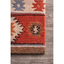 Red Wine On Wool Carpet nuloom hand tufted southwestern wool wine rug 7 u0027 6 x 9 u0027 6 free