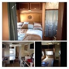 Diy Travel Trailer Interior Awning Bedroom Makeover