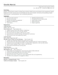 Secretary Resume Objectives Unit Sample Skills Legal Clerk