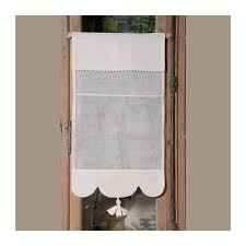 modele rideau de cuisine brise bise blanc modèle élia des ateliers du lac