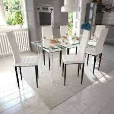 details zu esszimmergarnitur esszimmerstuhl stück glastisch essgruppe tischgruppe küche set