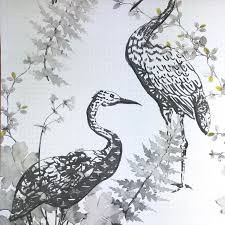 Private Walls Heron Yellow WallpaperFrom The Collection Is This Beautiful Large Scale