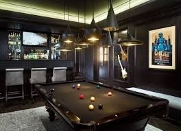Dazzling Game Room Design It Is Refreshment Moment Modern Billiard Table And Posters