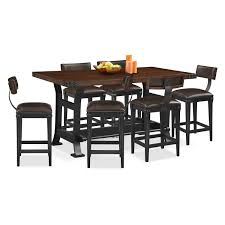 Newcastle Counter-Height Dining Table And 6 Stools - Mahogany ... Alcove Counterheight Dinette With 4 Side Chairs Orange American Signature Ding Room Table W 6 On Popscreen Fniture Sets Flyer Weeklyadsus American Signature Fniture Patio Sets Christralationsnet Pretty Old Tavern Collection Ethan Allen Comb Back Chair Astounding Of Martinsville With Esquire Tango Stone 5 Pc 42 Tables Impressive Drew Cherry Sofa