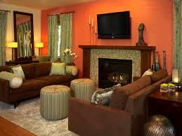 Brown And Orange Living Room Burnt Orange And Brown Living Room