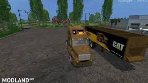 100 Semi Truck Games Cat V 20 And Cat Trailer V 20 By Eagle355th Mod For