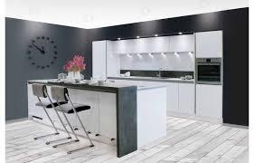 offene küche mit theke modell 2026 grifflose küchen