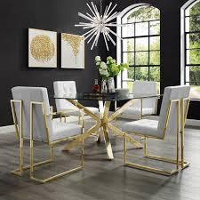 hany velvet stuhl mit goldenen beinen