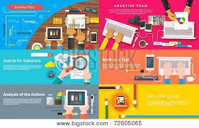 Creative Team Young Design Working At Desk Poster