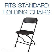 10 Pc White Satin Folding Chair Covers - Wedding Reception