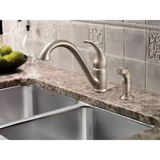 Moen 90 Degree Bar Faucet by Moen 7840 Camerist Single Handle Kitchen Faucet With Side Spray