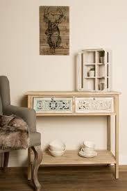 casa padrino landhausstil konsole antik weiß naturfarben 85 x 37 x h 77 cm handgefertigter shabby chic konsolentisch mit 2 schubladen