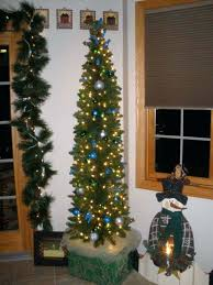 2 Pencil Tree Unlit Christmas 12 Foot Slim