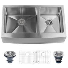 miseno stainless steel 33 x 21 double basin farmhouse kitchen