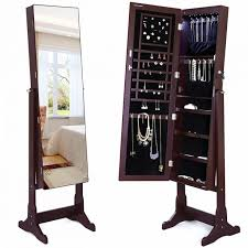 Mirrored Jewelry Box Armoire by Furniture Marvelous Floor Mirror Jewelry Armoire Floor Standing