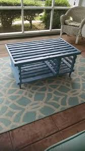 awesome rustic looking coffee table handmade wooden lobster trap