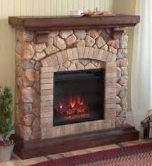 Stacked Stone Electric Quartz Fireplace Heater Ventless