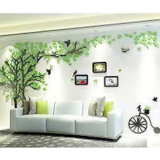 asvert 3d wandaufkleber stereo wandaufkleber abnehmbare wohnzimmer schlafzimmer kinderzimmer sofa möbel hintergrund sticker wandtattoo m grün
