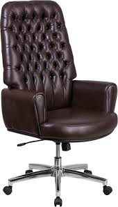 Silkeborg High Back Tufted Brown Leather Executive Swivel Chair W ... Classic Leather Executive Office Chair Rapid Fniture Shop Highback Traditional Tufted Osp Black Bonded With Wood Trim L Amazoncom Halter Hal007 Eames Style Cream Faux Mulberry Moon Made For Comfort Ez Brown Taupe 500lb High Back Go2092m1tpgg Bizchaircom Staples Giuseppe Ea119 Chair Design Seats Buy Designer Flow Hon Atwork Canada