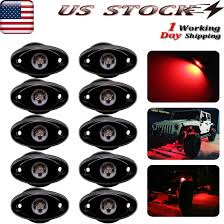 100 Truck U Tv Details About 10X Red LED Rock Light For JEEP Offroad TV 4x4 Bed Nder Body Fog Lights