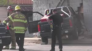 100 Salvation Army Truck Pickup 1 Person Taken To Hospital After Crashing Into Store