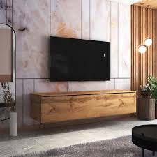 selsey skylara tv schrank modernes tv möbel für wohnzimmer minimalistisch stehend hängend 180 cm breit wotan eiche matt
